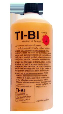 Soluzione TI-BI 2 - Soluzione detergente per orologeria e recupero estetico di dorature galvaniche su antimonio e bronzo.