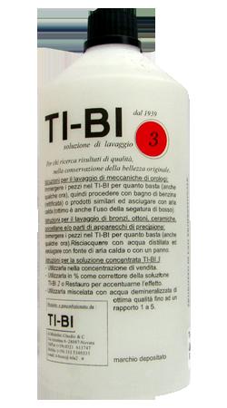 Soluzione TI-BI 3 - Soluzione per  disossidare. Decapante e detergente forte per restauro ed orologeria.